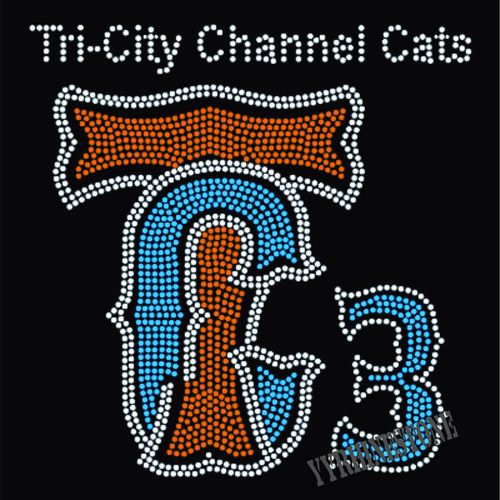 the city channel cats iron on rhinestone transfers