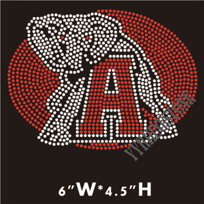 Football alabama custom Rhinestone Transfer Hotfix Motif