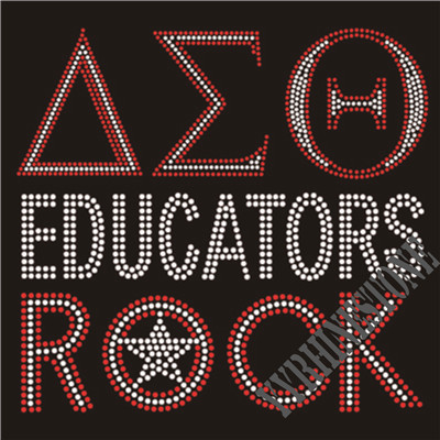 Delta Sigma Theta educators rock rhinestone transfer