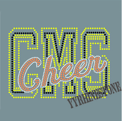 CMS Cheer rhinestone transfer