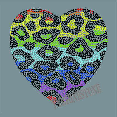 Zebra Heart rhinestone transfer designs