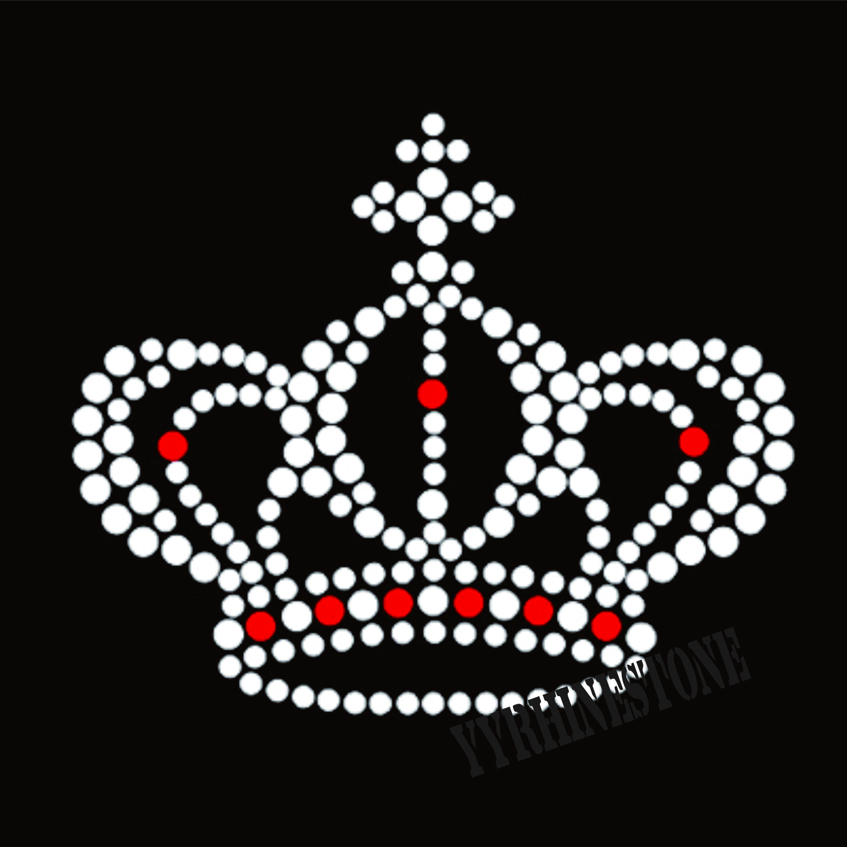 Bling Crown hot fix rhinestone transfer motif