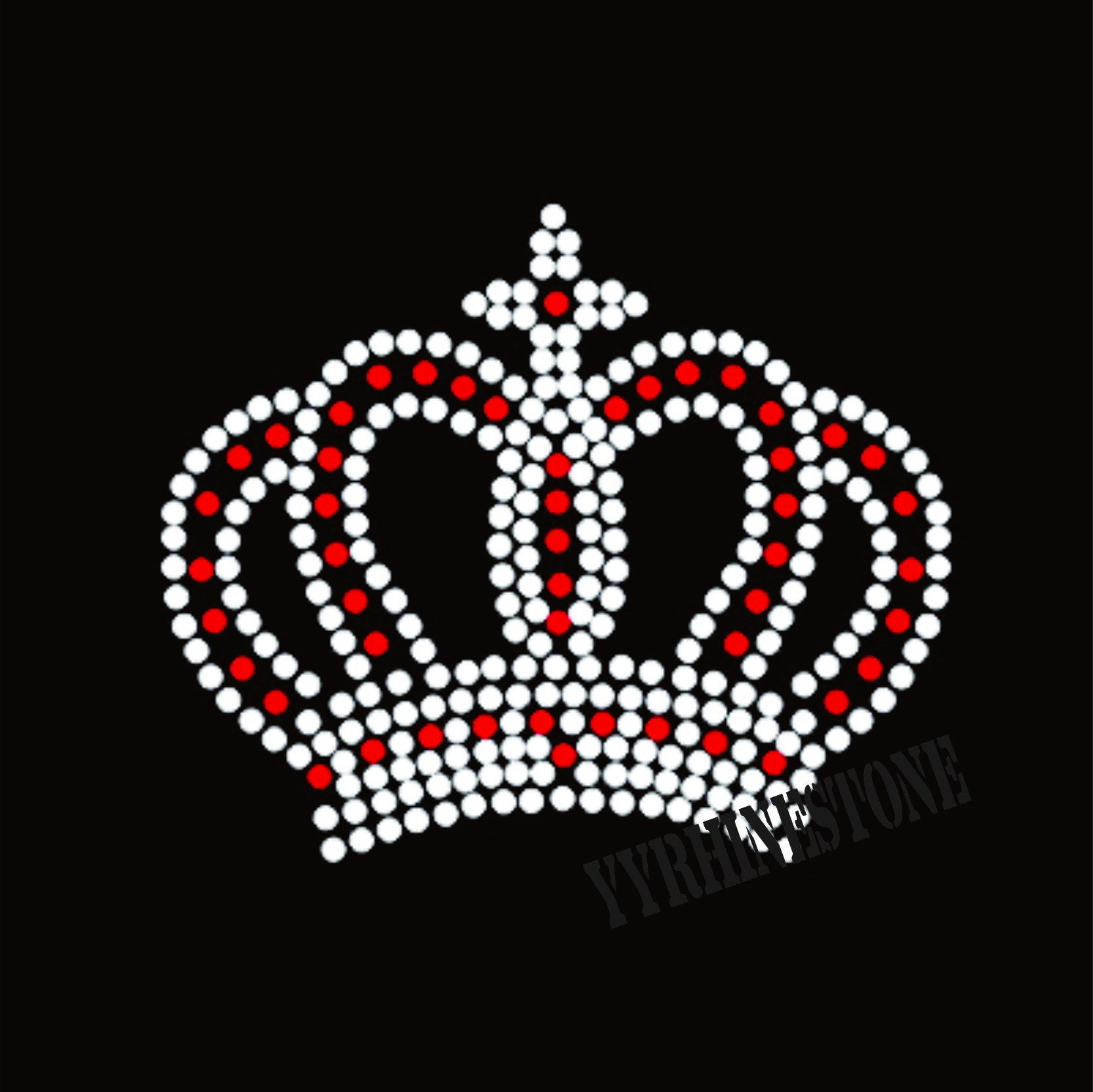 Beautiful crown rhinestone transfer