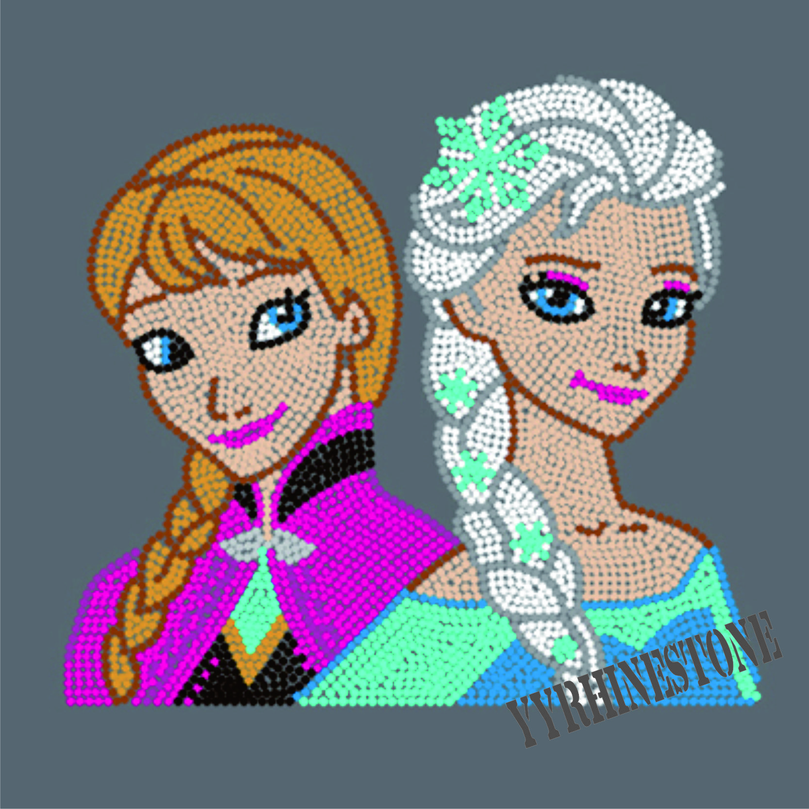 Frozen rockin the crown rhinestone transfers