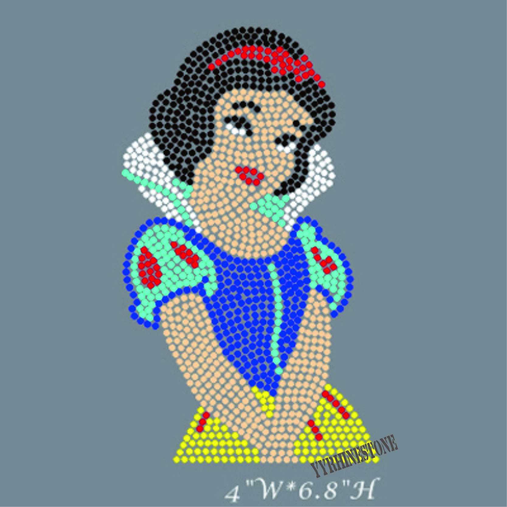Snow White rhinestone iron on transfer wholesale