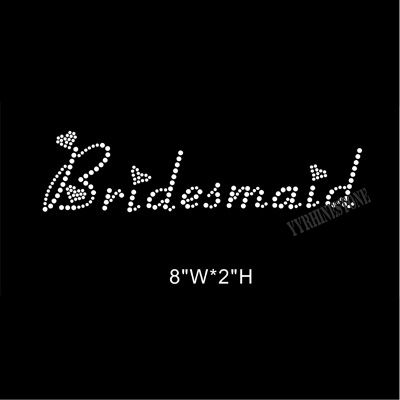 bridesmaid rhinestone transfer