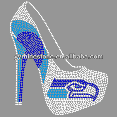 high heel shoes rhinestone transfer