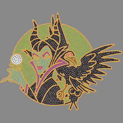 Movie Maleficent Rhinestone Transfers Motif For Tshirts
