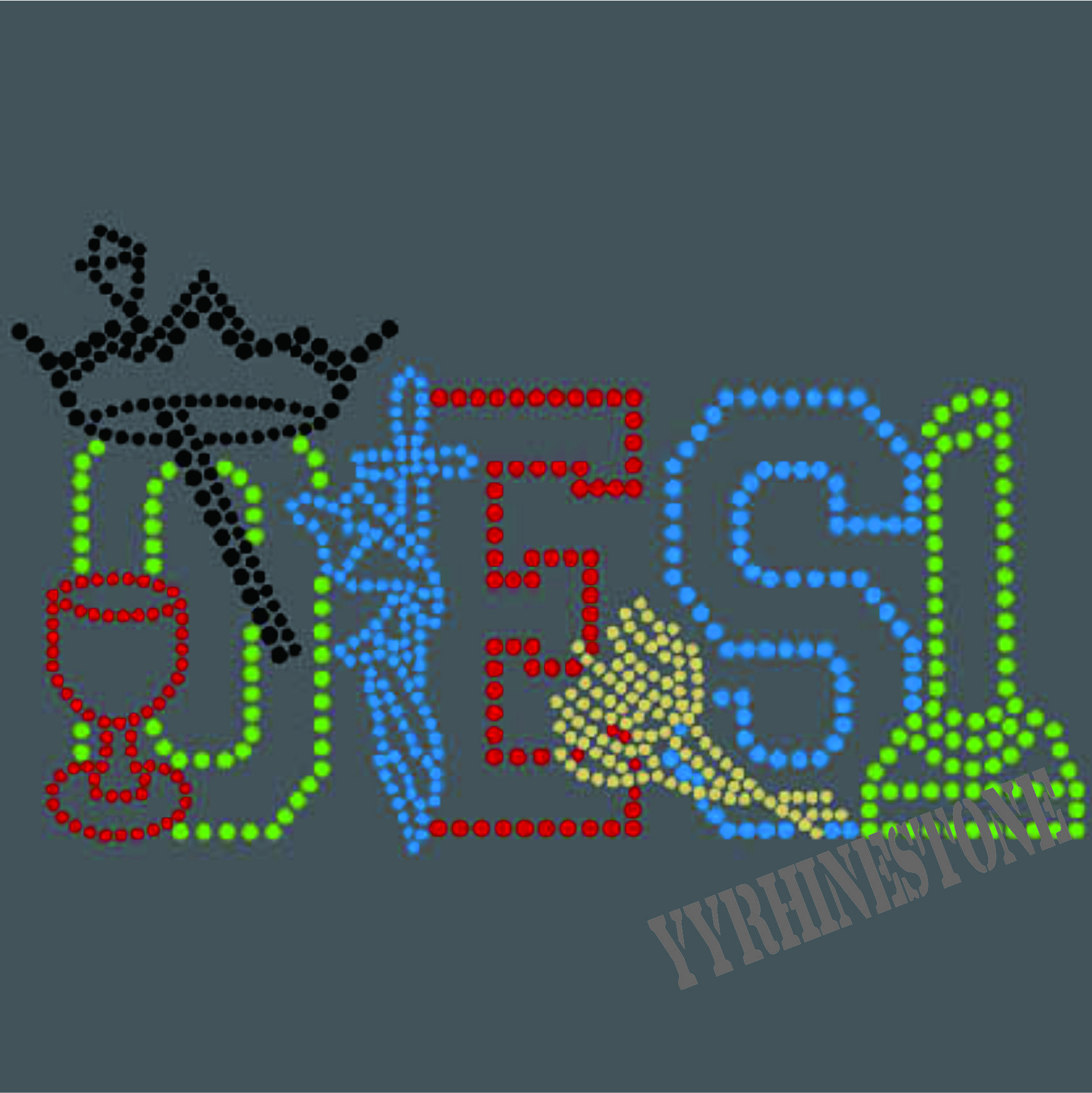 Custom OES Rhinestone Transfers for T Shirts