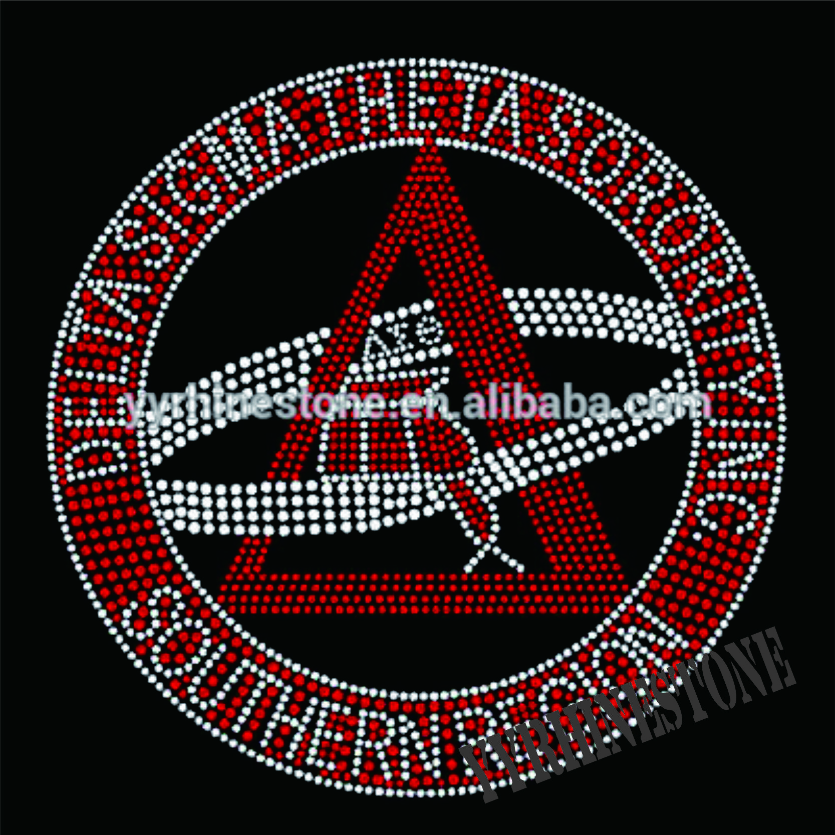 Delta sigma theta rhinestone transfers for t-shirts