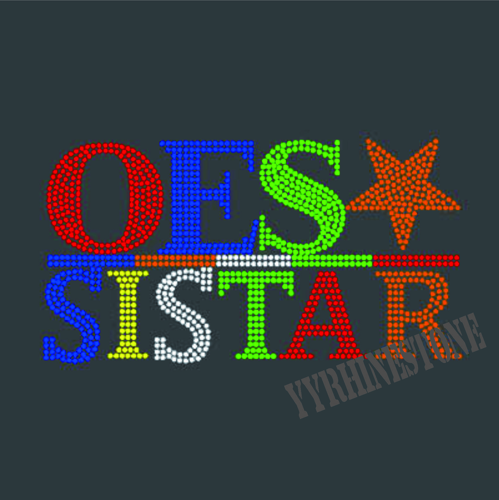 OES SISTAR hotfix rhinestone transfer motif for t-shirt