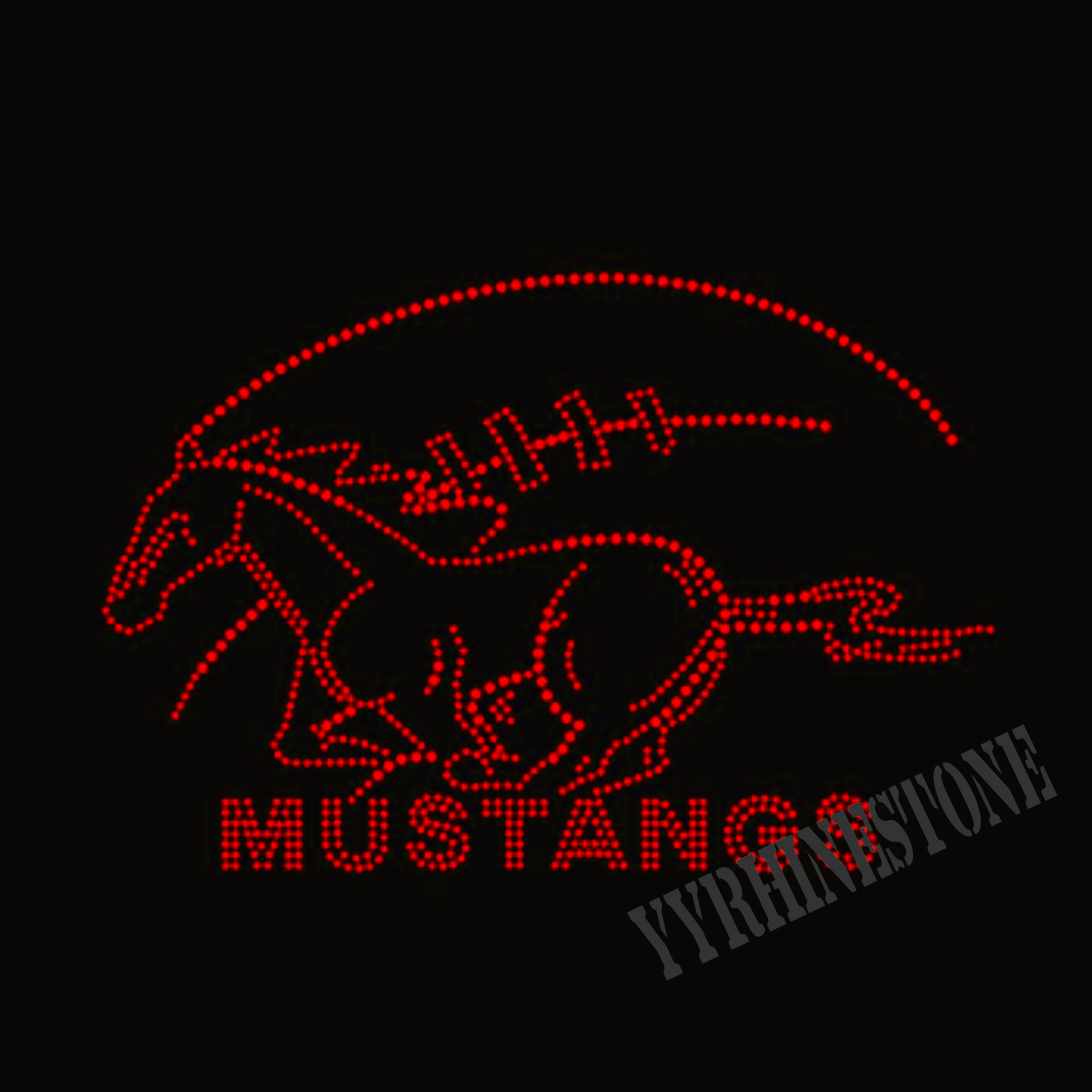 wholesale Mustangs hotfix Rhinestone transfer