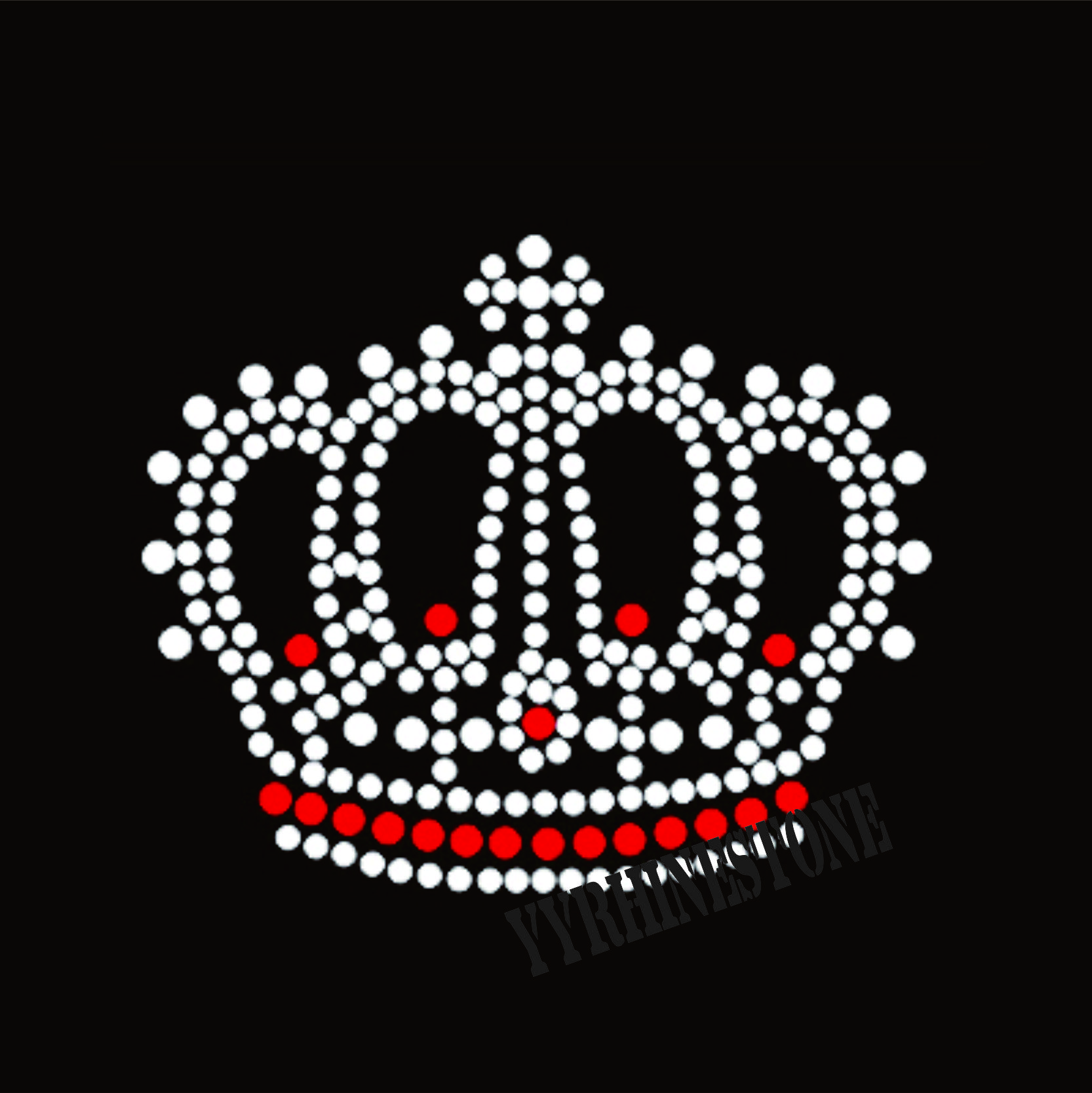Beautiful crown rhinestone transfer wholesale