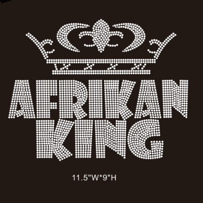 afrikan king hot fix rhinestone transfer