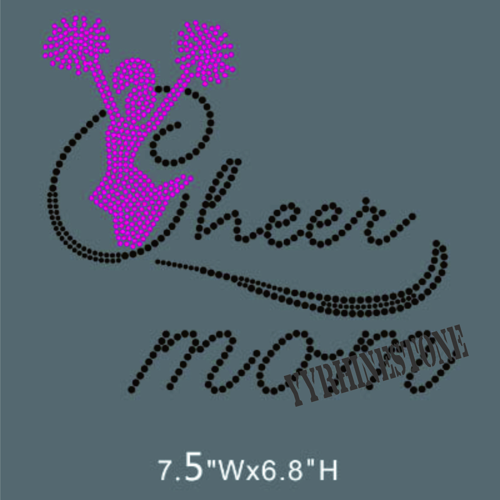 cheer mom hotfix rhinestone transfer