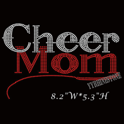 wholesale Cheer mom iron on rhinestone transfers