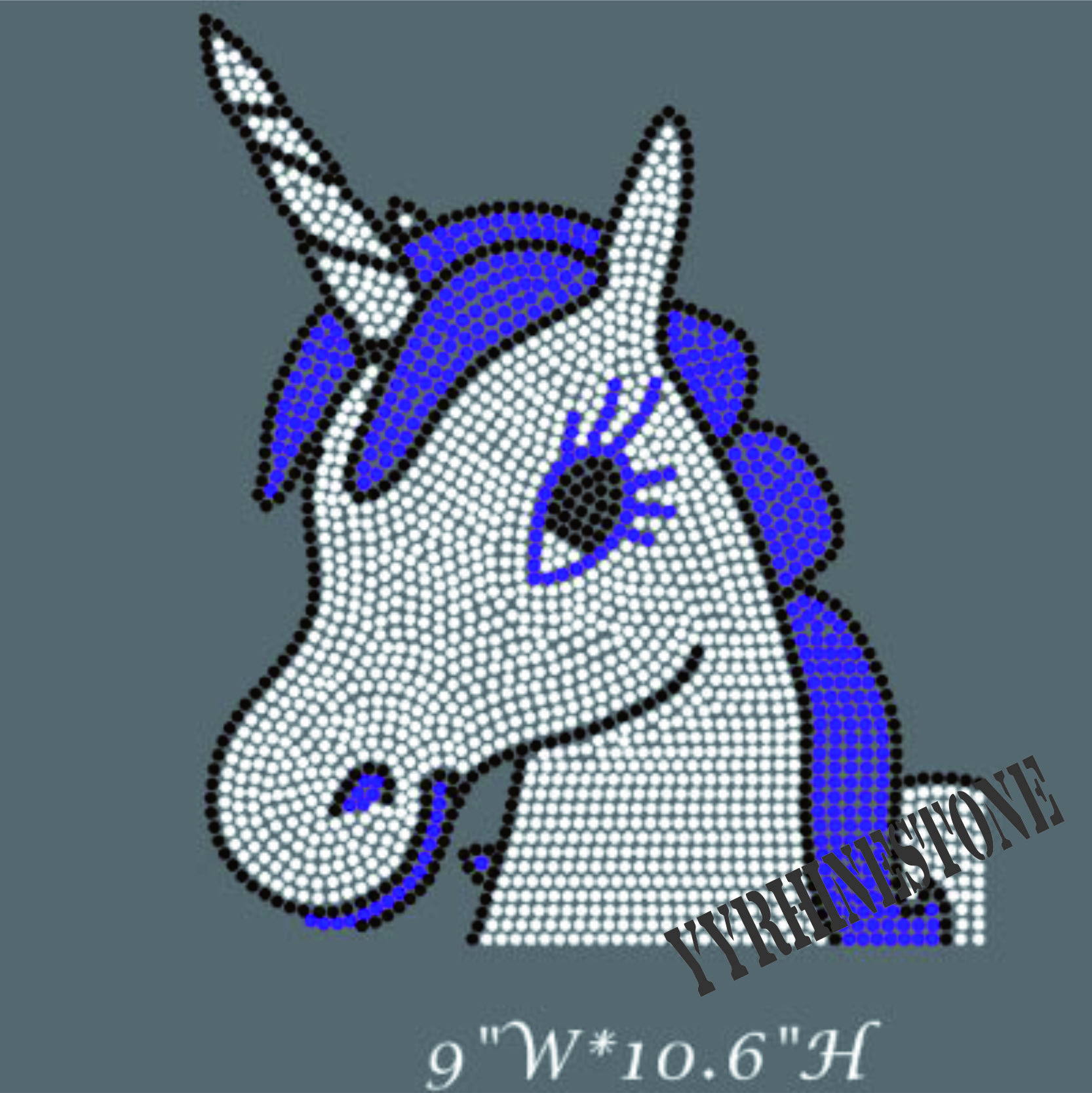 Hot sale Unicorn hot fix rhinestone transfer
