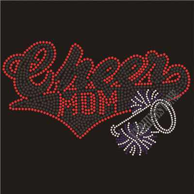 Cheer mom rhinestone transfer