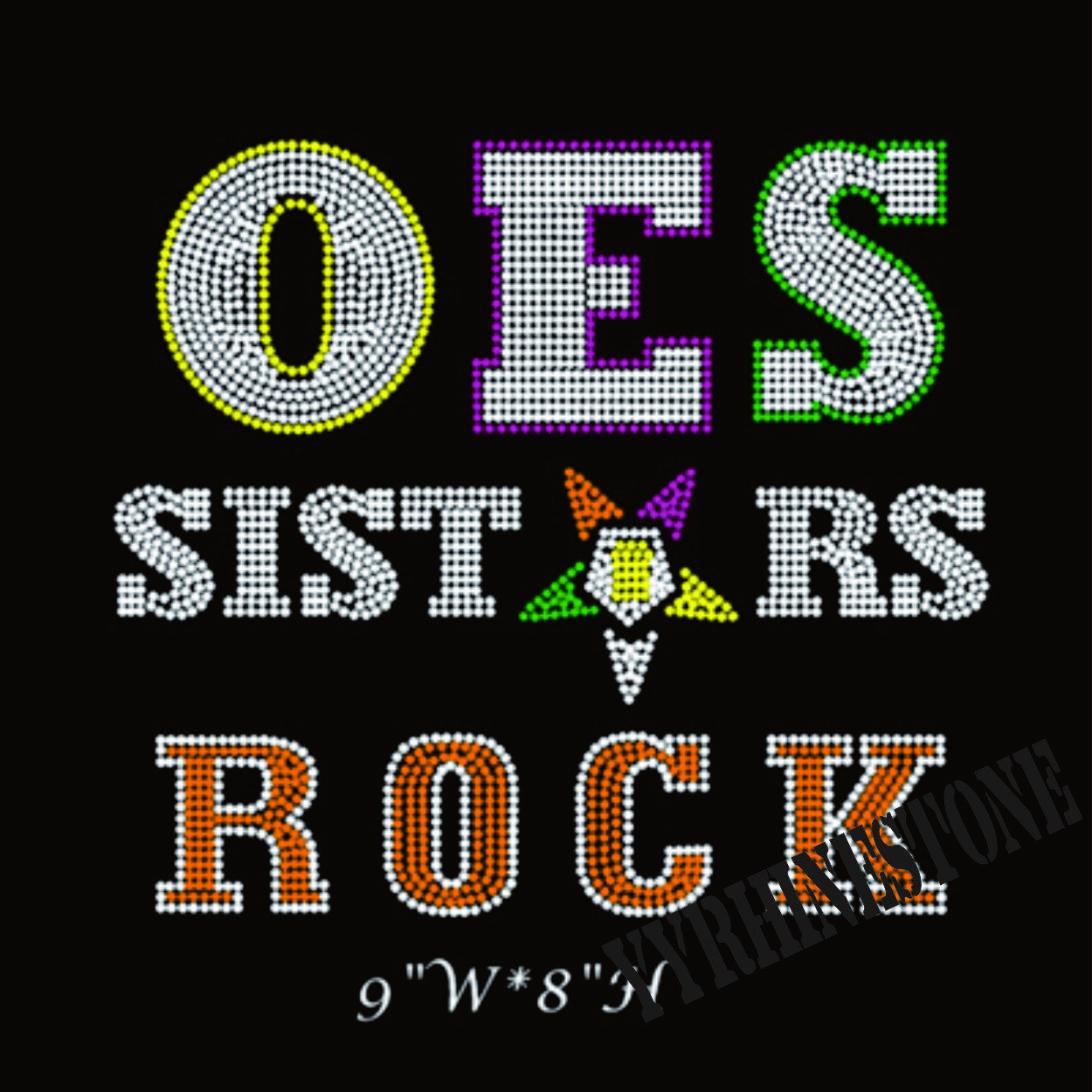 OES SISTAR ROCK hotfix rhinestone transfer motif for t-shirt