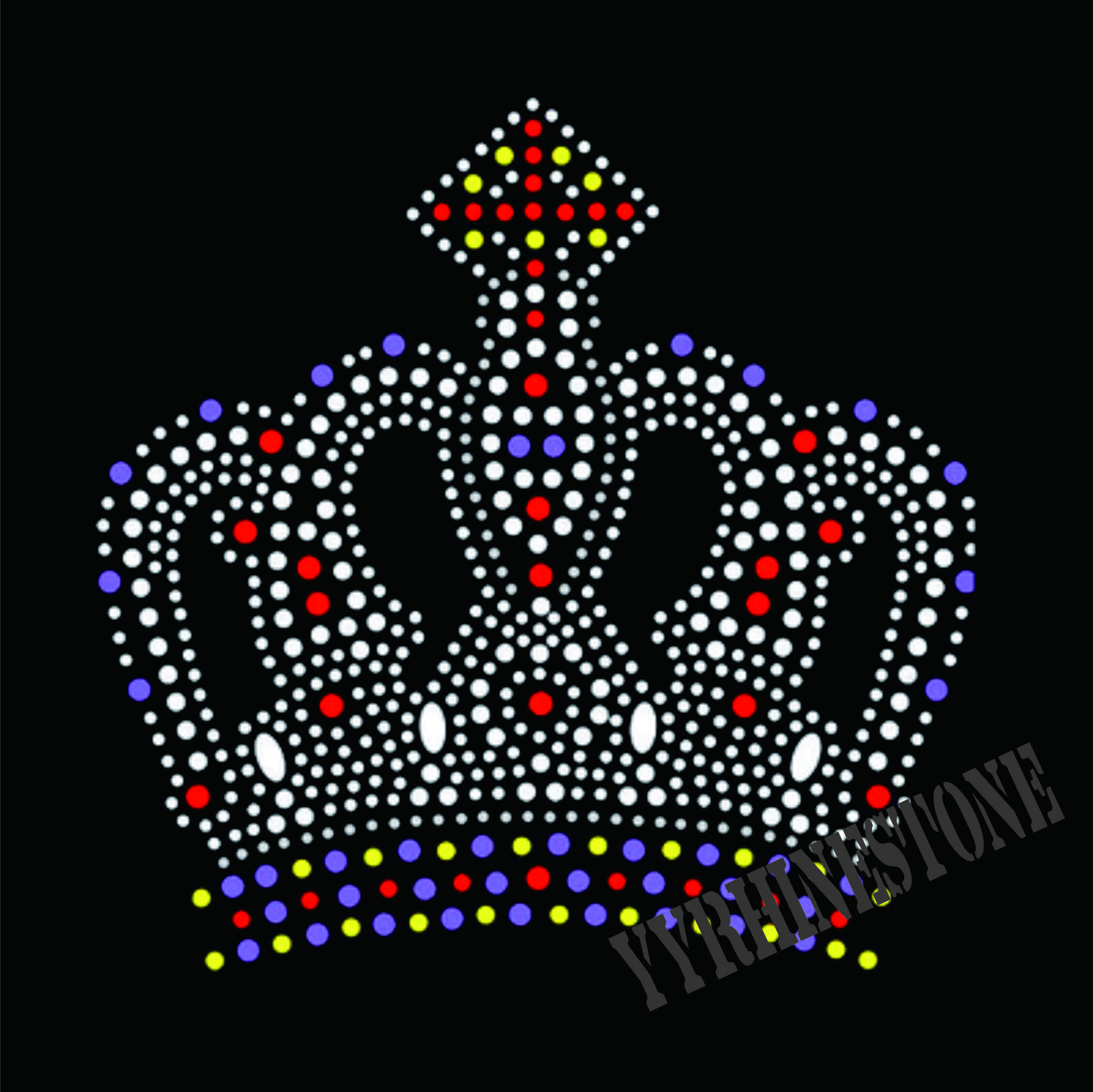 crown hotfix rhinestone transfer