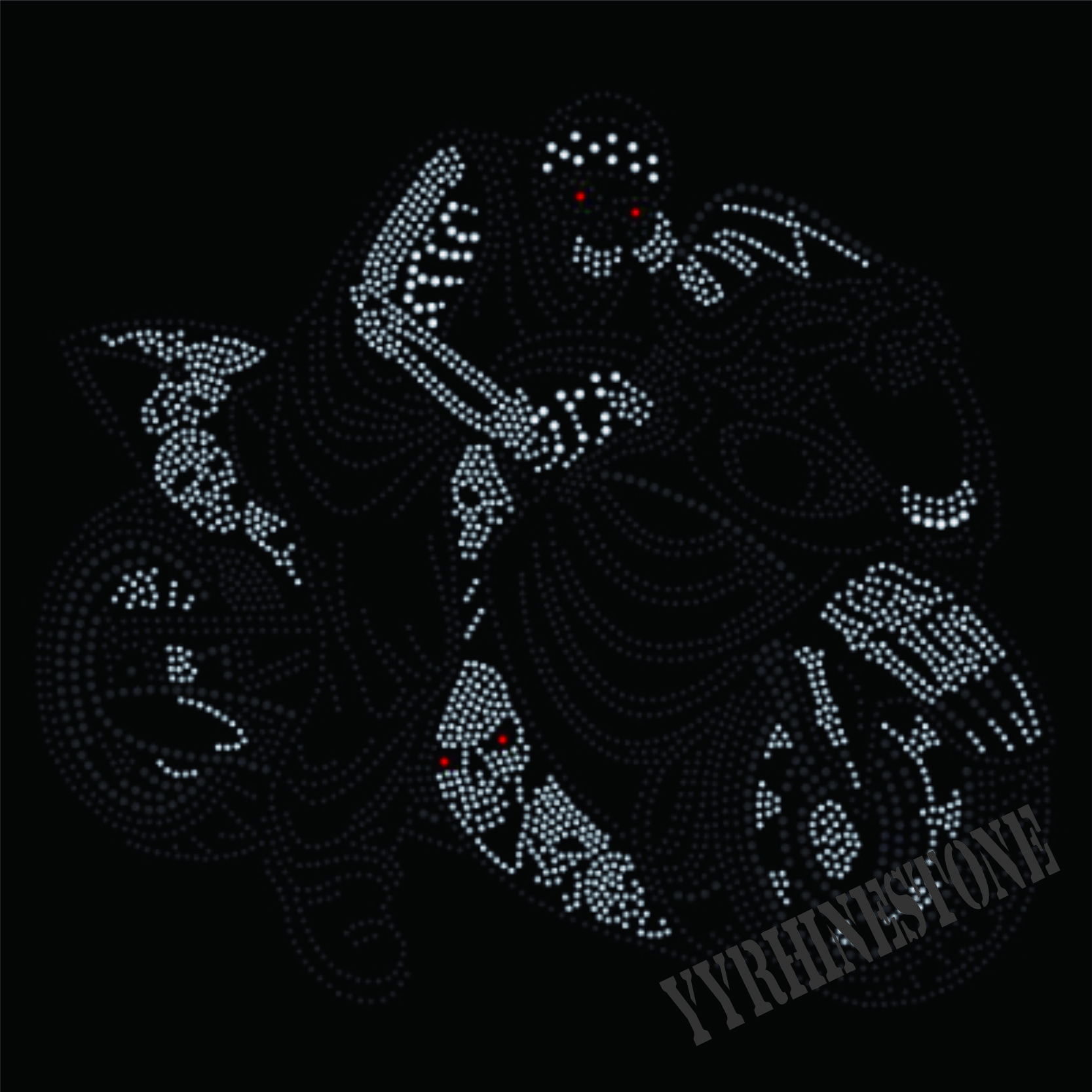 motorcycle skull biker iron on rhinestone transfers