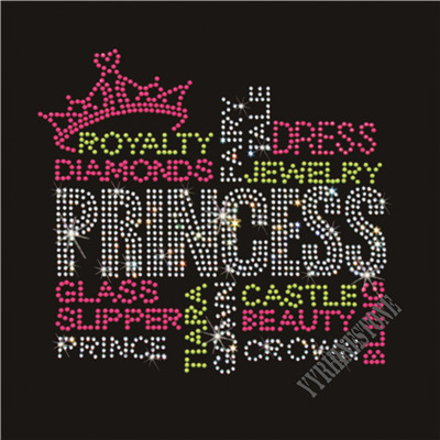 Princess rhinestone transfer