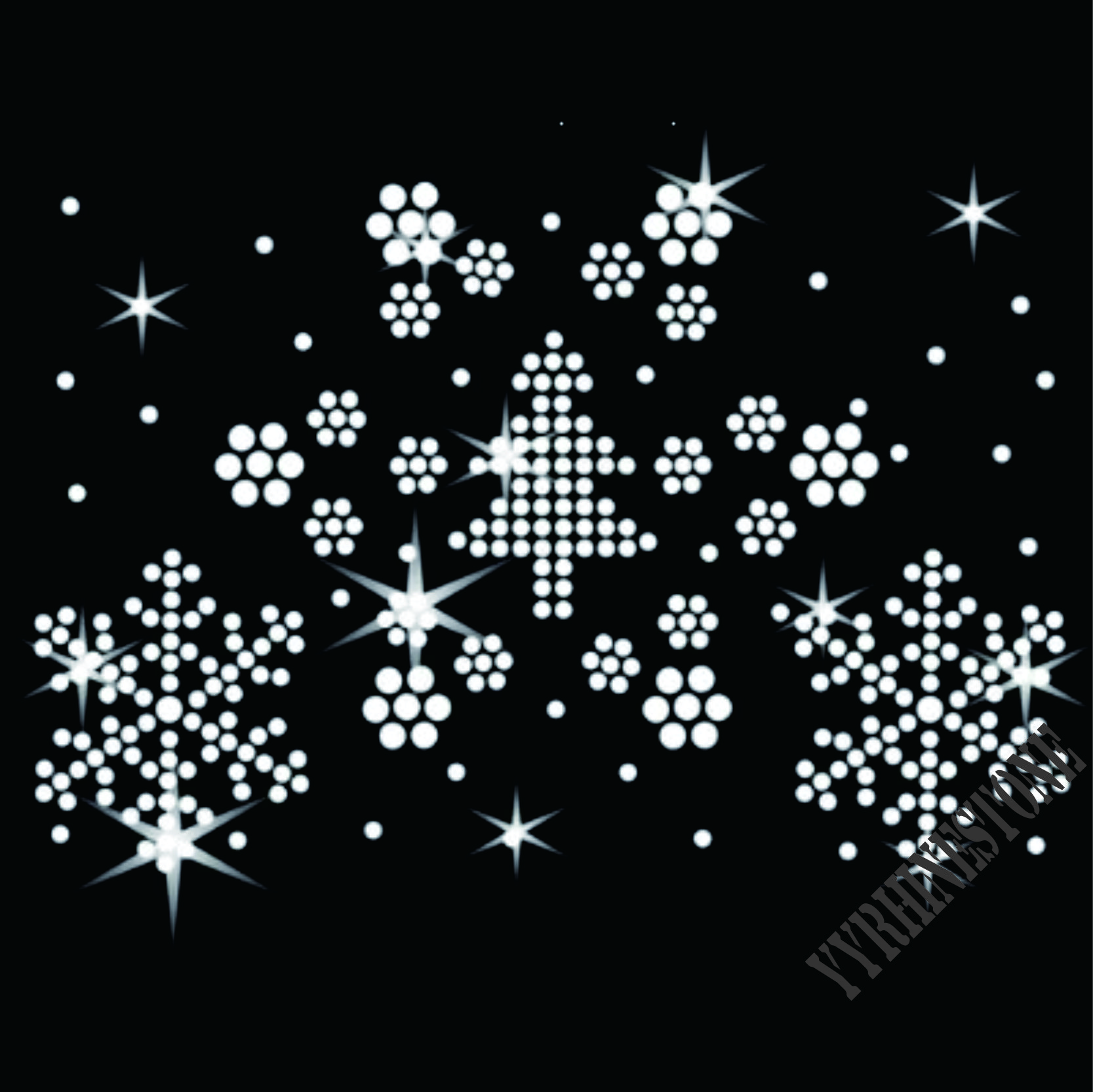 snowflakes hot sale Rhinestone Transfers