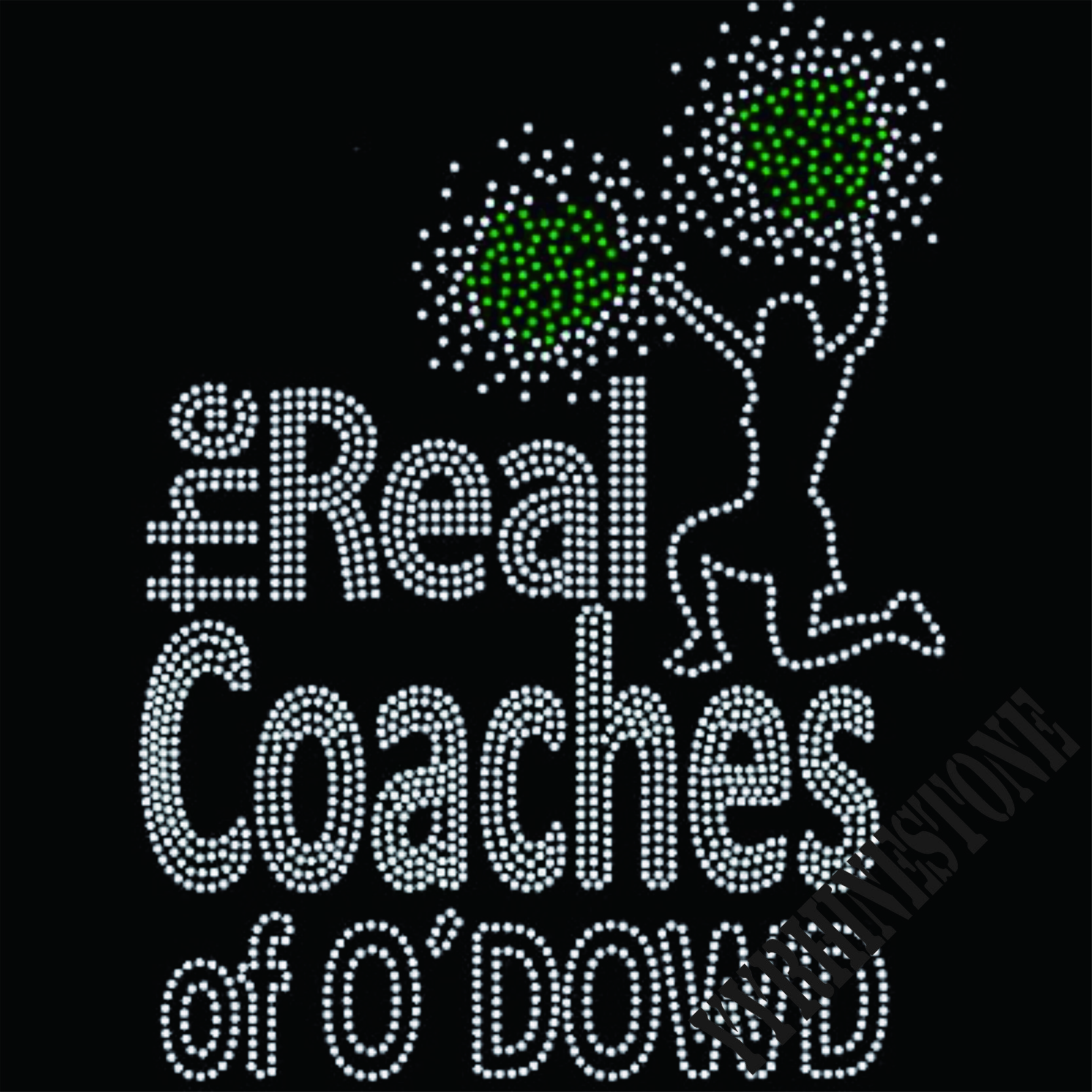 The real coaches of O'S DOWD hotfix rhinestone transfers