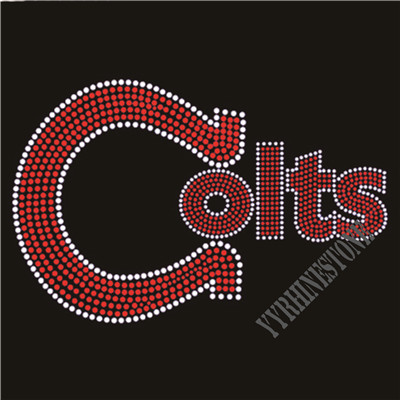 Colts rhinestone transfer