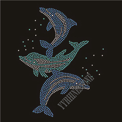Dolphin rhinestone transfer wholesale