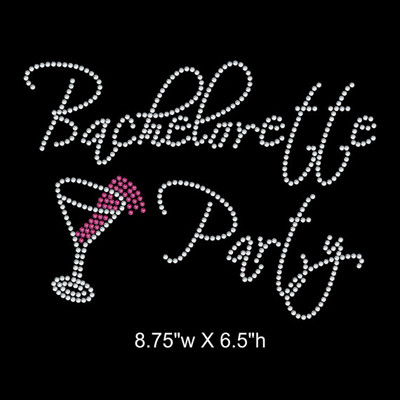 Bachelorette Party rhinestone transfer