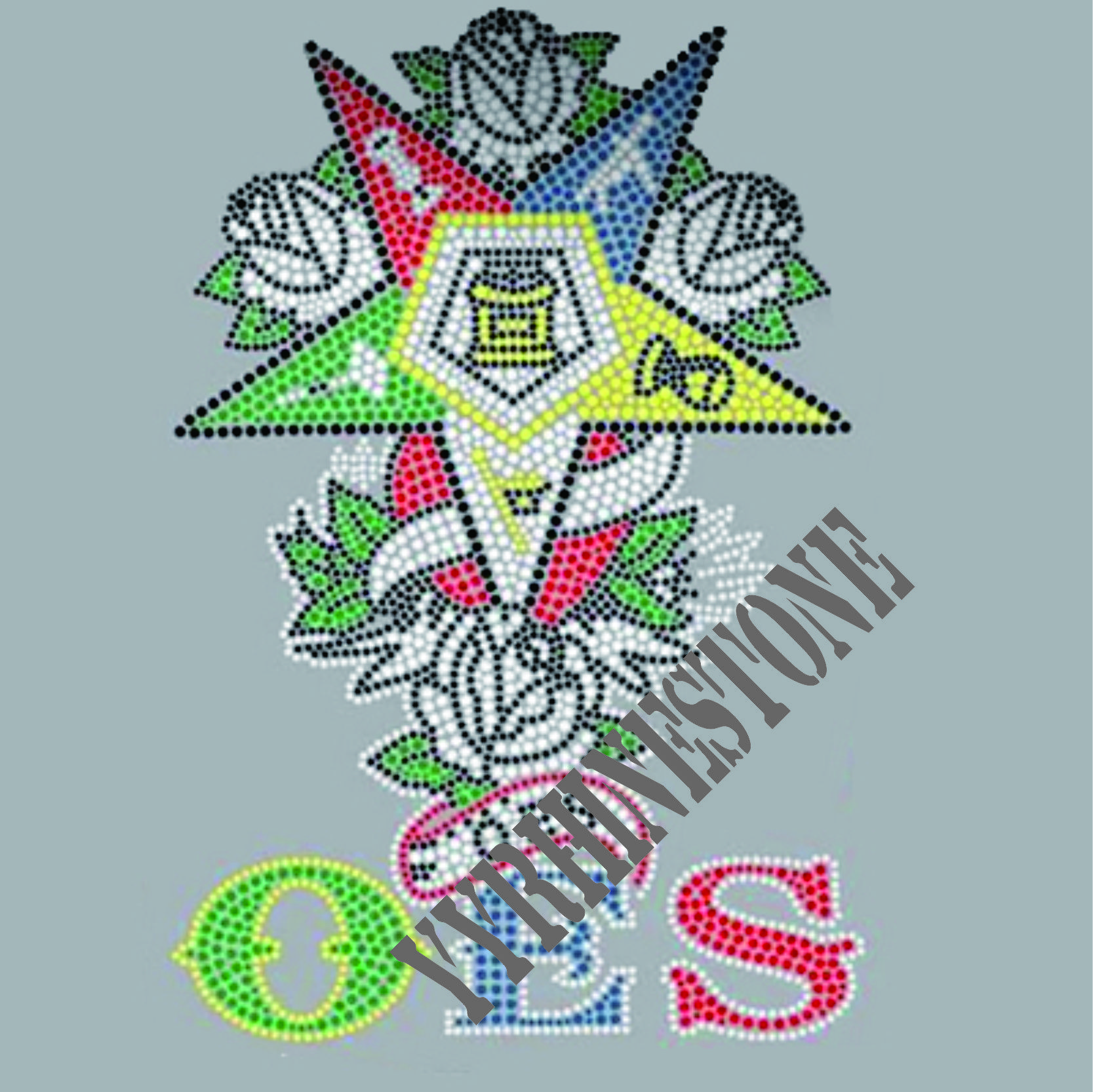 OES New design heat rhinestine transfer