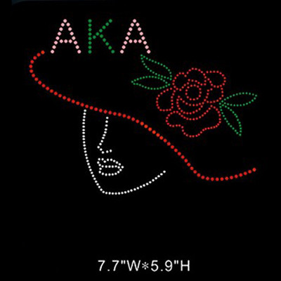 AKA Sorority Rhinestone Transfer