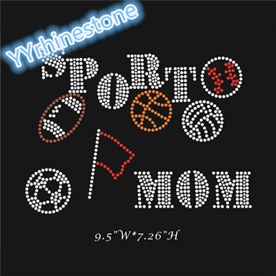 Sport mom rhinestone transfer wholesale