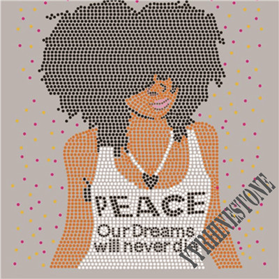 I love peace our dreams will never die rhinestone transfer