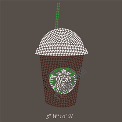 Starbucks coffee rhinestone transfer