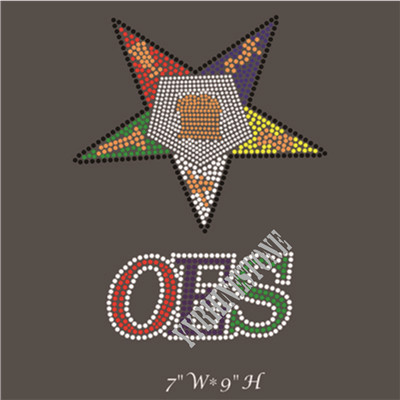 OES star rhinestone transfer for garment