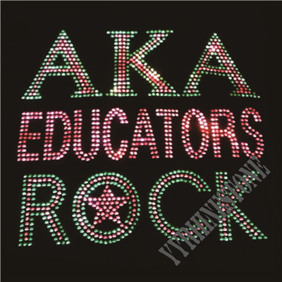 AKA educators rock rhinestone transfer