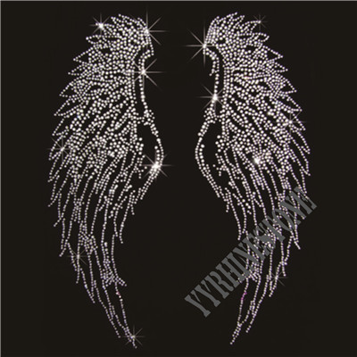 Wings rhinestone transfer
