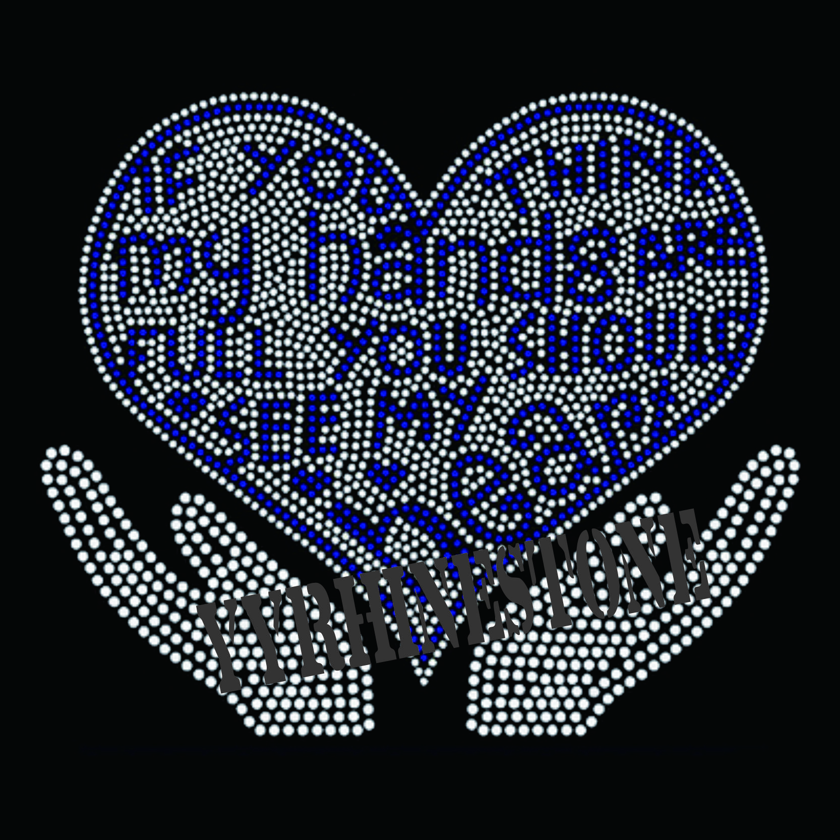 You should see my heart rhinestone transfer
