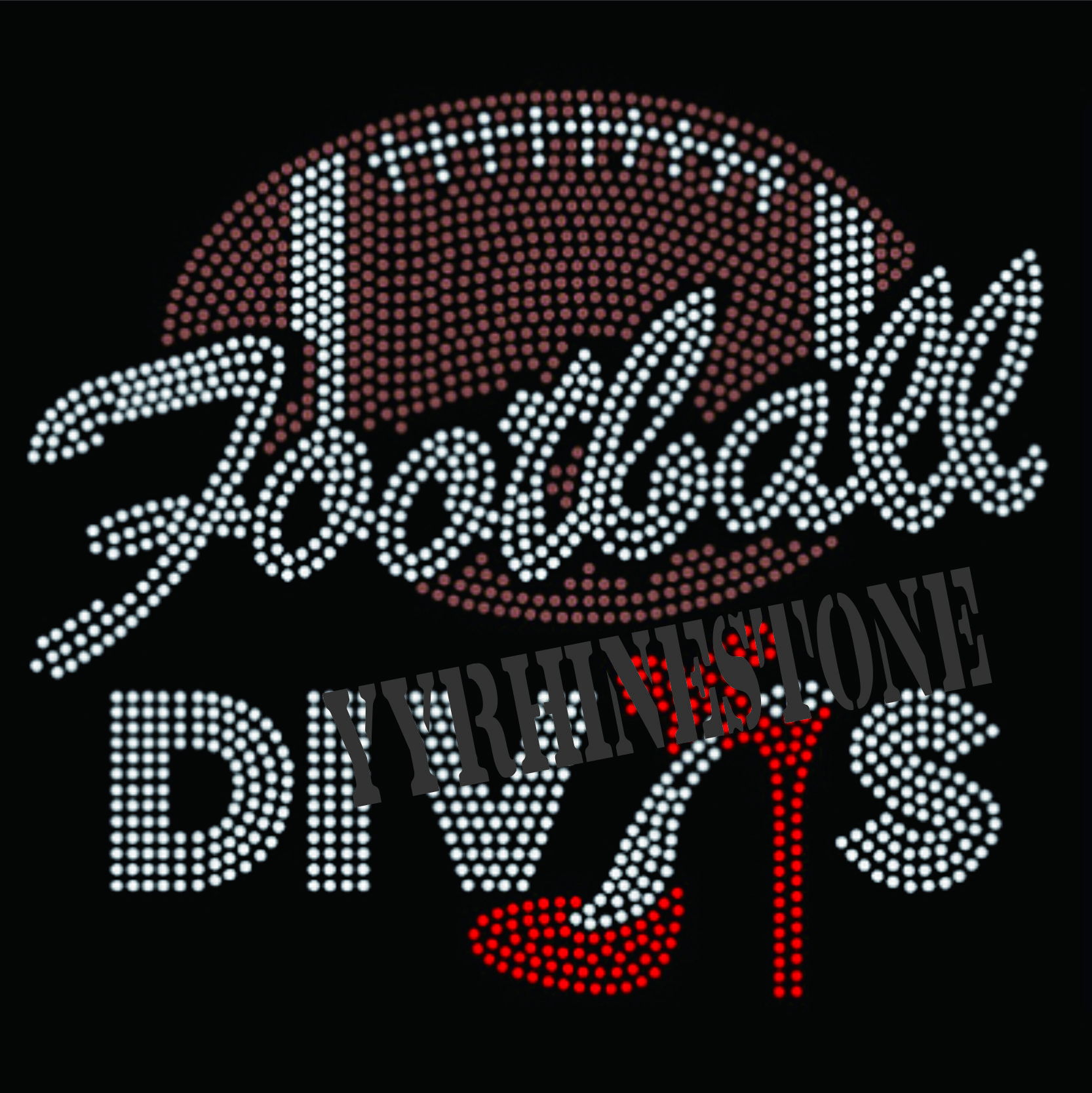 football divas hotfix rhinestone transfer