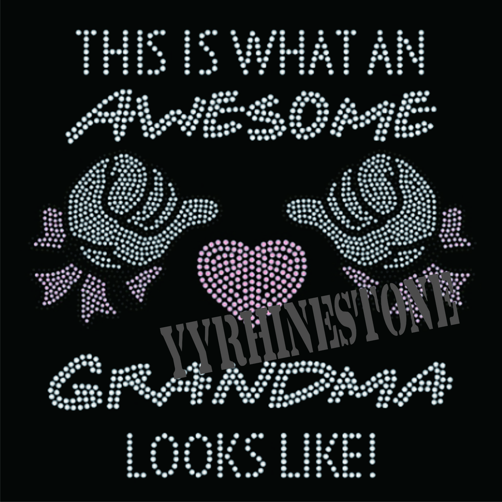 awesome grandma hotfix rhinestone transfer
